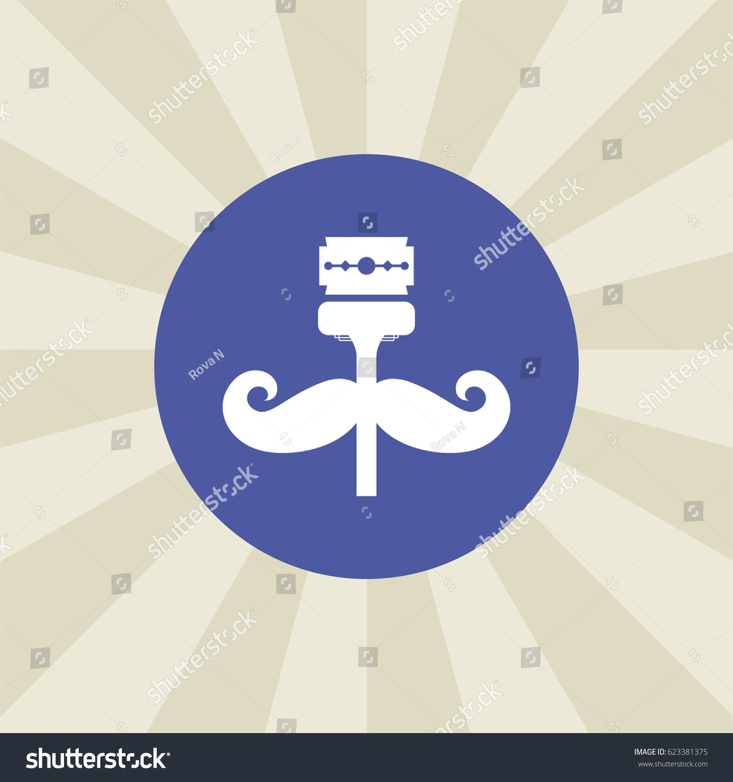Gillette Icon Sign Design Background Stock Vector (Royalty