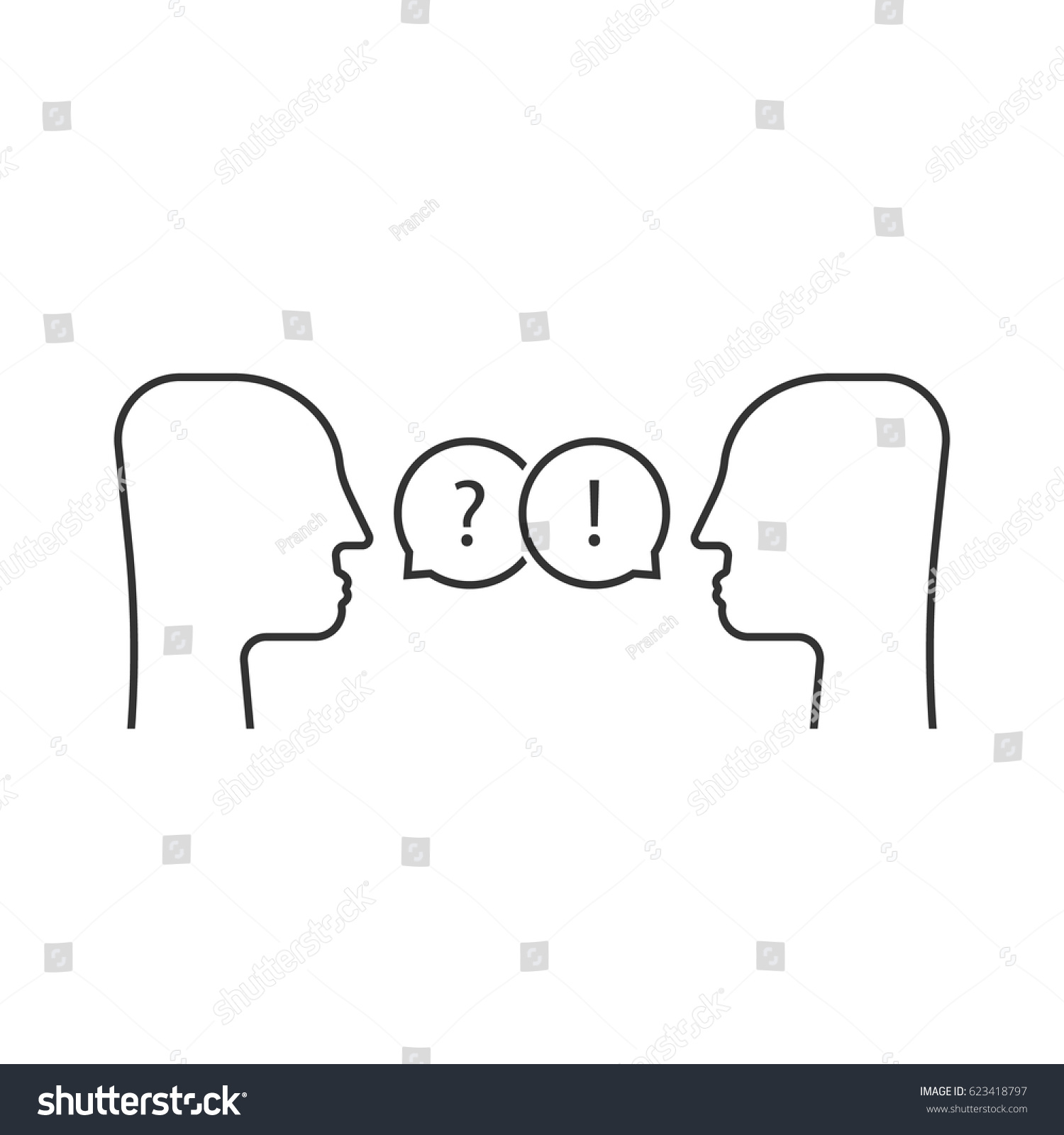 Thin line dialogue between two people stock vector 623418797 thin line dialogue between two people concept of simple knowledge transfer symbol for partnership or biocorpaavc Image collections