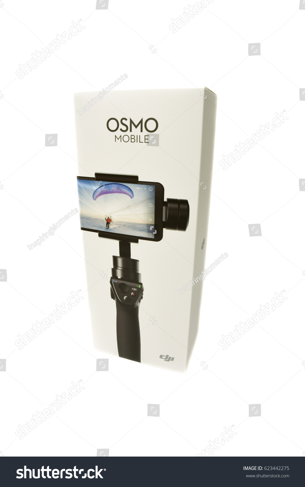 Dji Osmo Mobile Silver New Gimbal Stand Stock Photo Edit Now 623442275 For Smartphone In The Box Latvia January 20