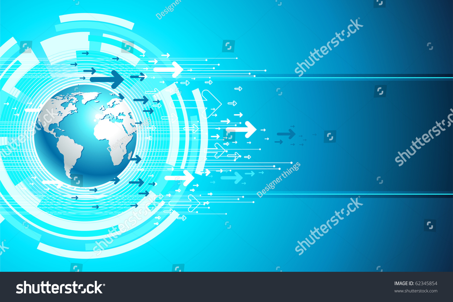 Map Site Business. Digital Vector Templete In Blue