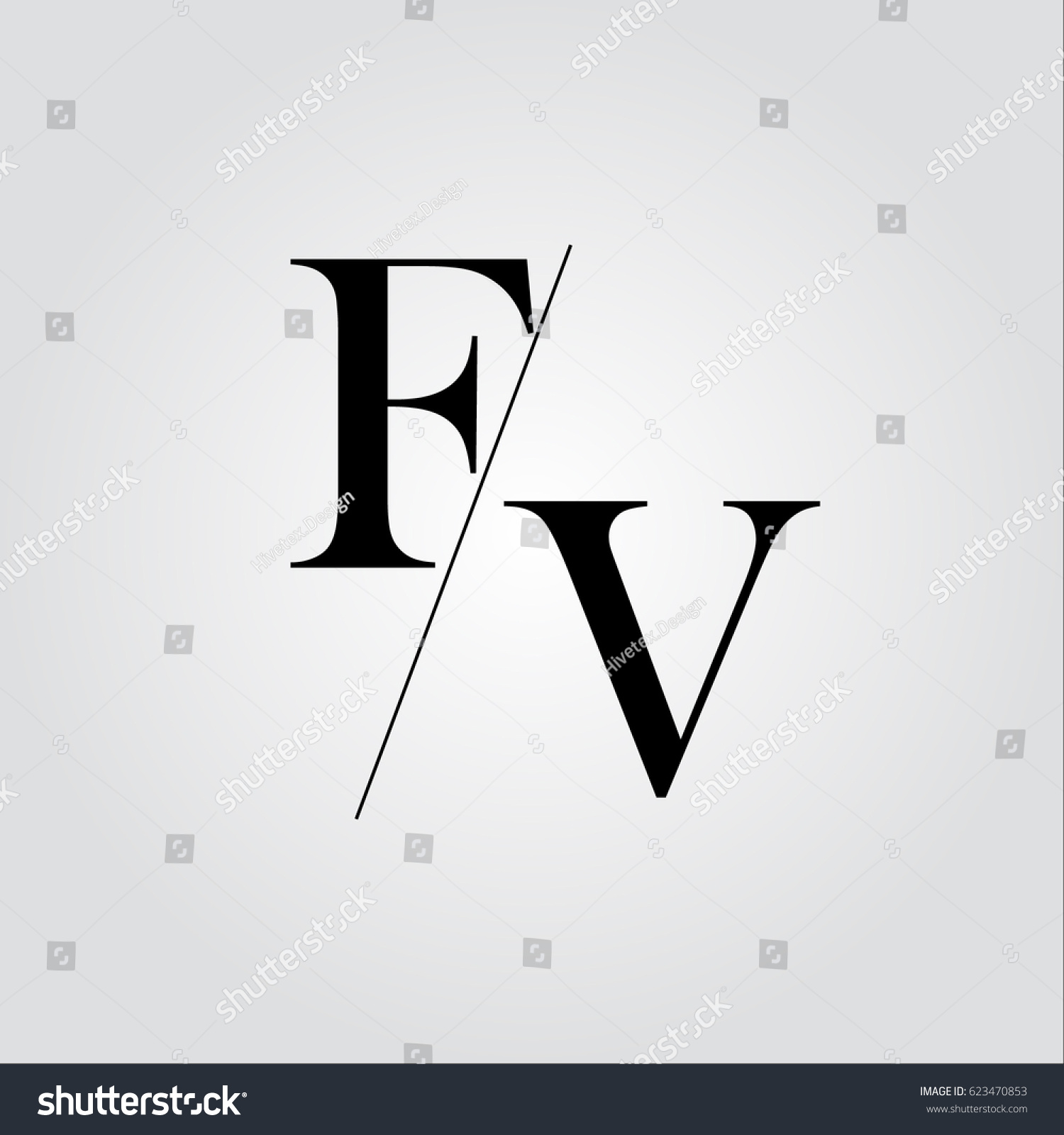 fv logo stock vector royalty free 623470853 shutterstock