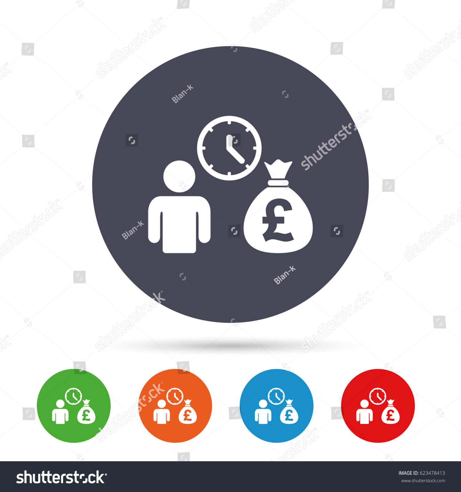 Bank Loans Sign Icon Get Money Stock Vector (Royalty Free