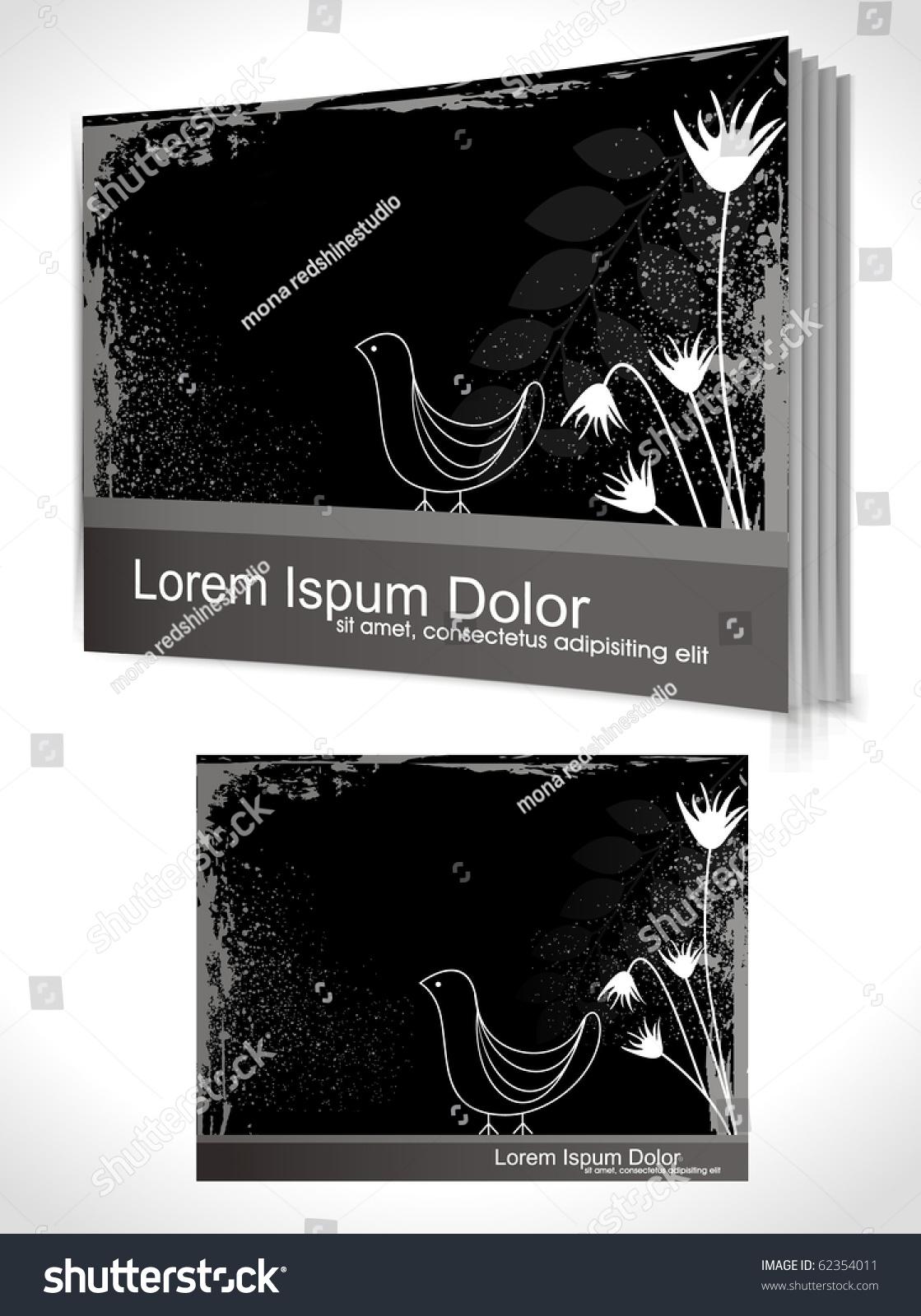 Book Cover Design Vector Template : Book cover design template vector illustration