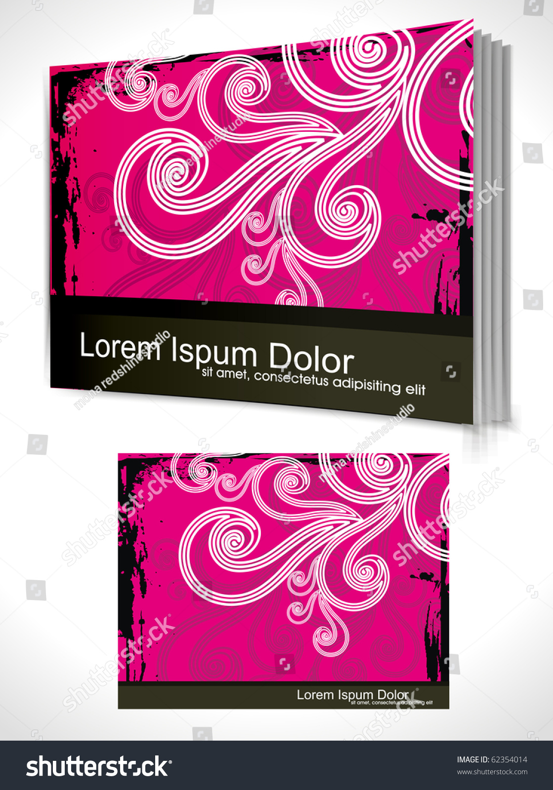 Book Cover Design Illustrator : Book cover design template vector illustration