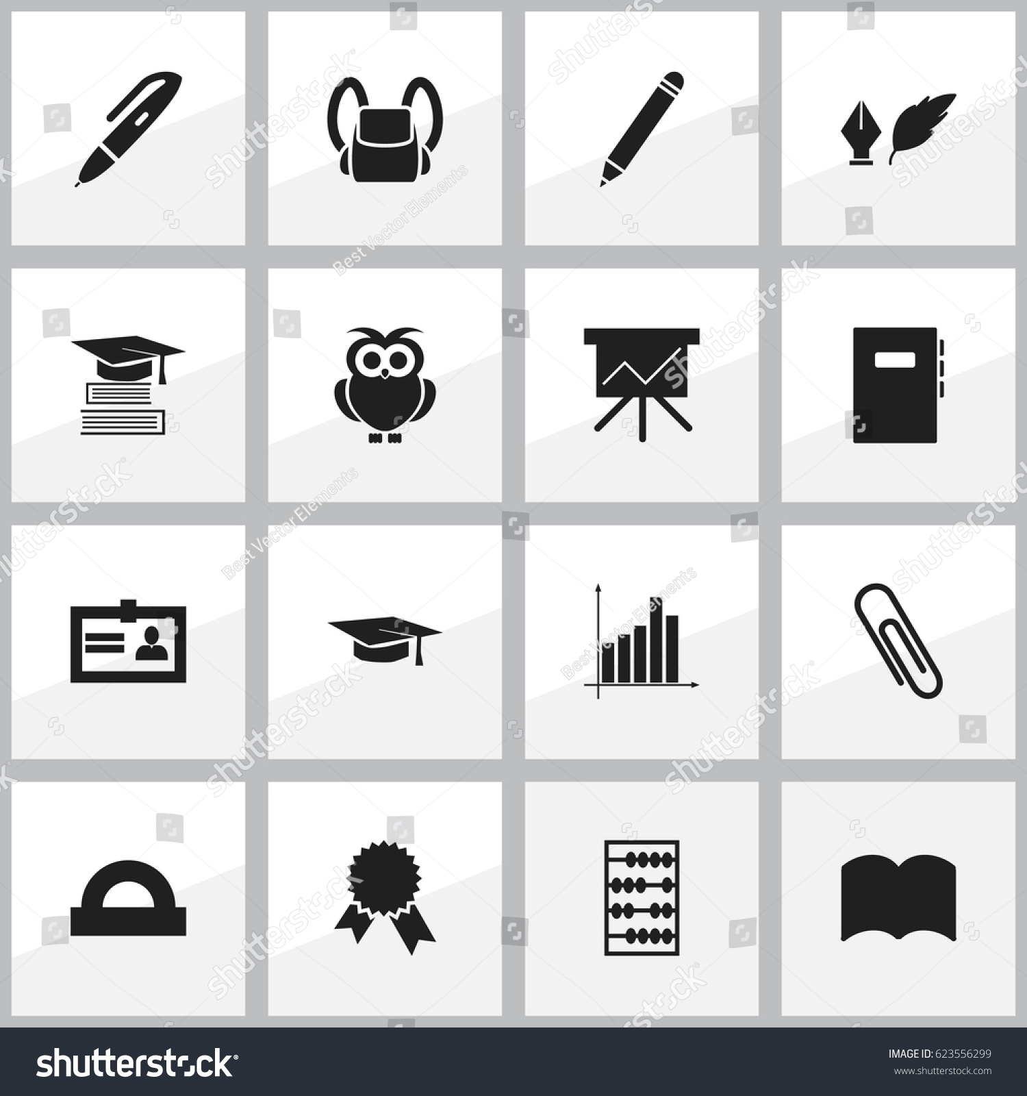 Set 16 editable school icons includes stock vector 623556299 includes symbols such as certification literature arithmetic 1betcityfo Image collections