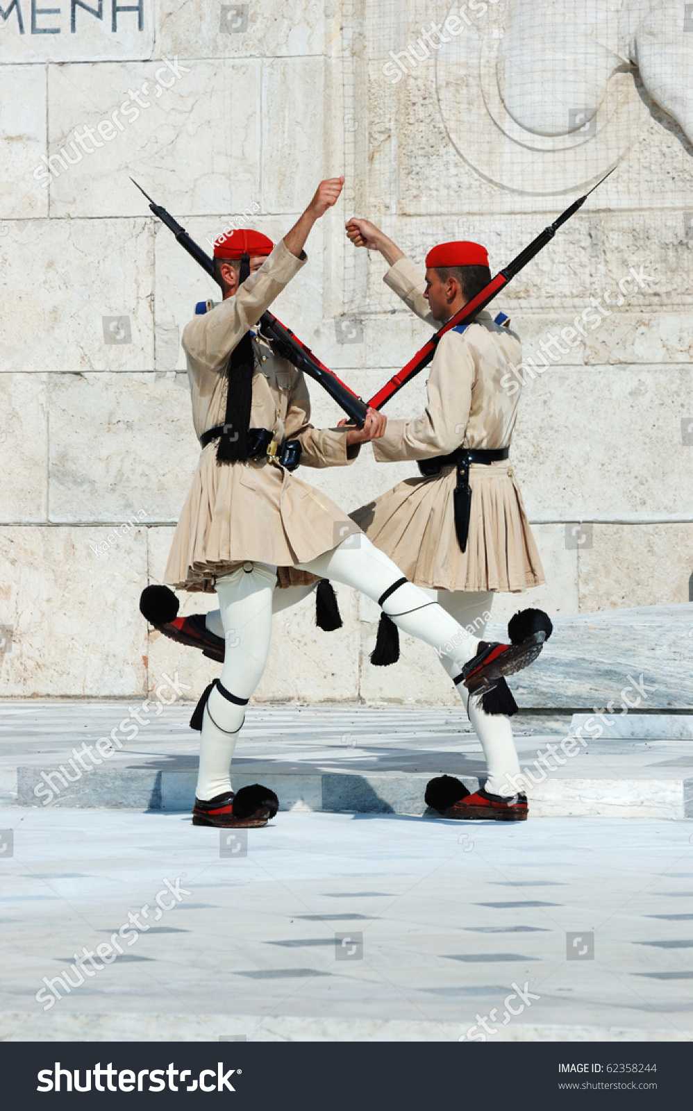 athens greece august 14 greek presidential guard change in front of parliament on february 14. Black Bedroom Furniture Sets. Home Design Ideas