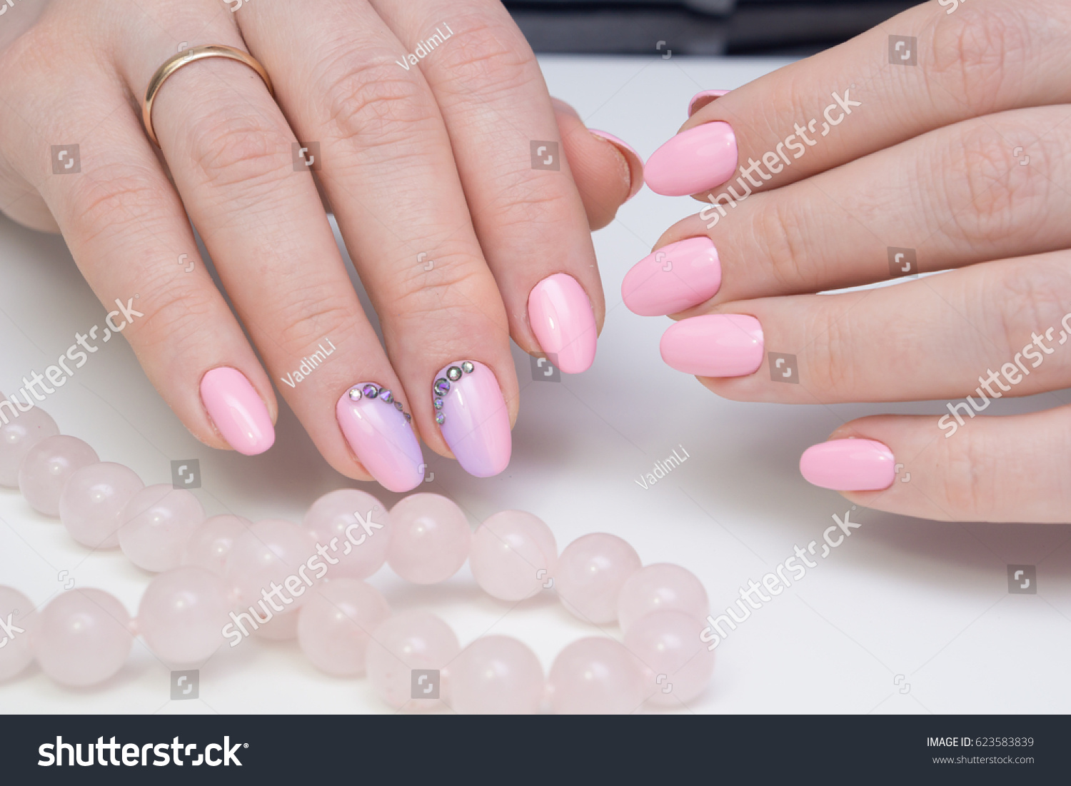 Natural Nails Amazing Clean Manicure Gel Stock Photo 623583839 ...