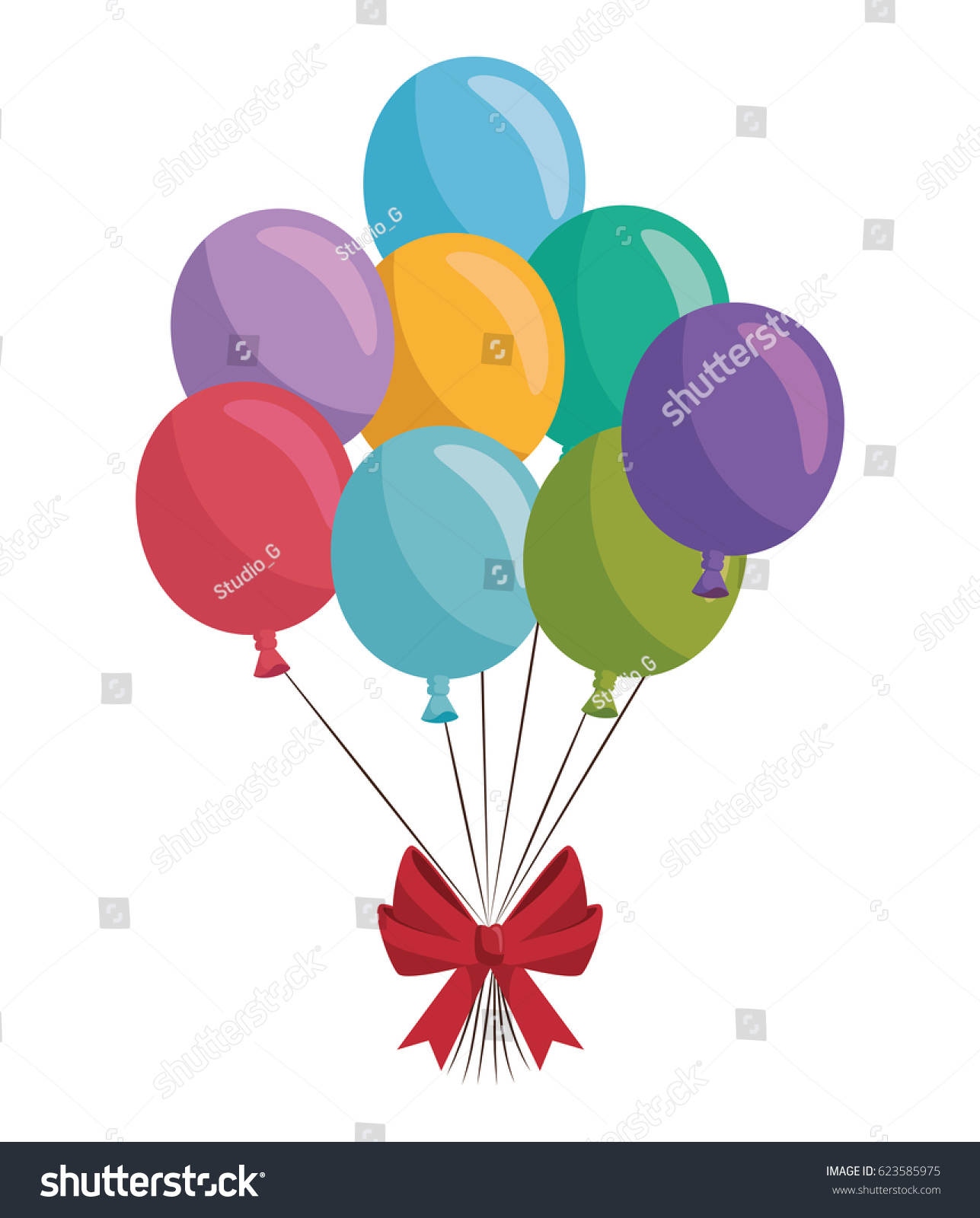 Happy Birthday Balloons Air Party Stock Vector Shutterstock