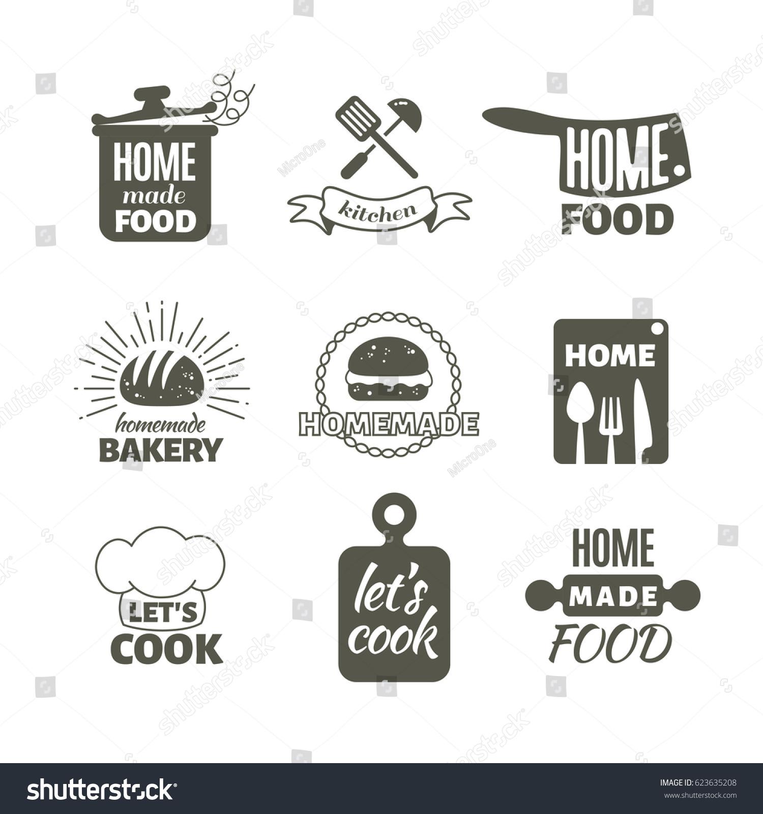 Retro kitchenware impressive red and white retro for Kitchen designs logo