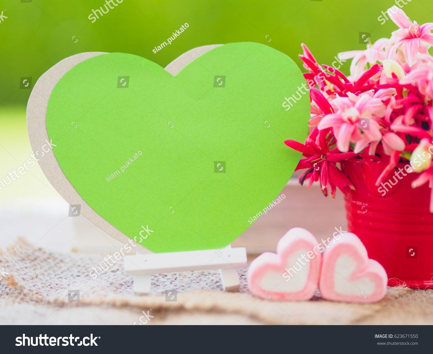Poster Mock Template Flower Bouquet Marshmallow Stock Photo (Royalty ...