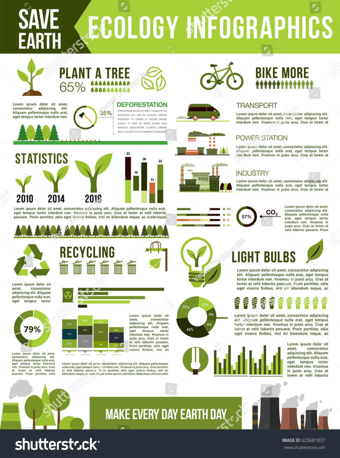Ecology nature conservation infographic air pollution for Facts about energy conservation