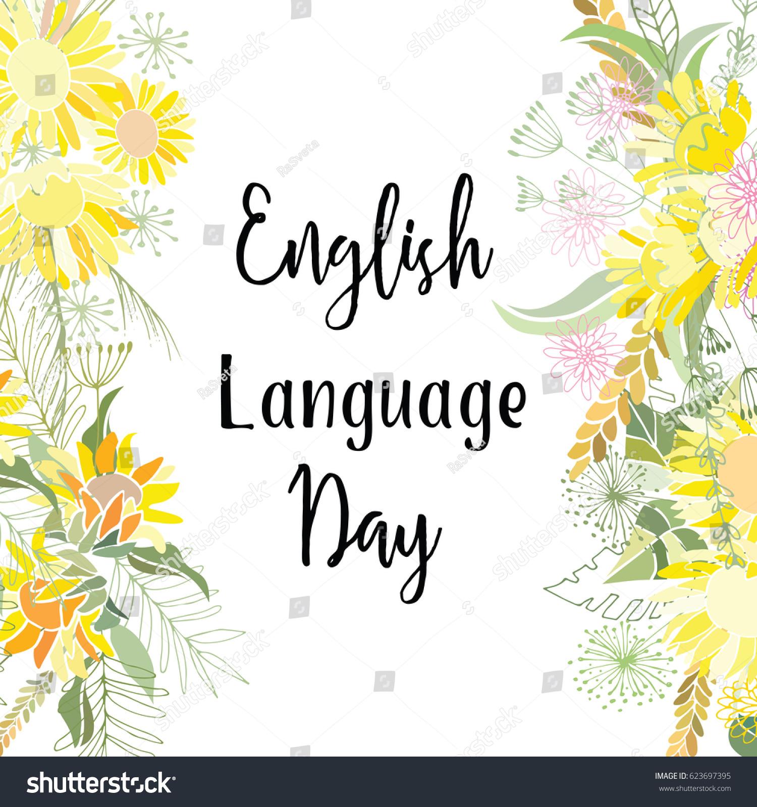 Greeting card english language day abstract stock vector royalty greeting card of the english language day abstract background m4hsunfo