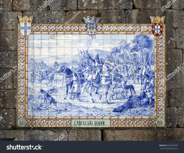 Ponte de lima portugal october 7 stock photo 623697689 shutterstock ponte de lima portugal october 7 2016 panel of blue ceramic tiles dailygadgetfo Choice Image