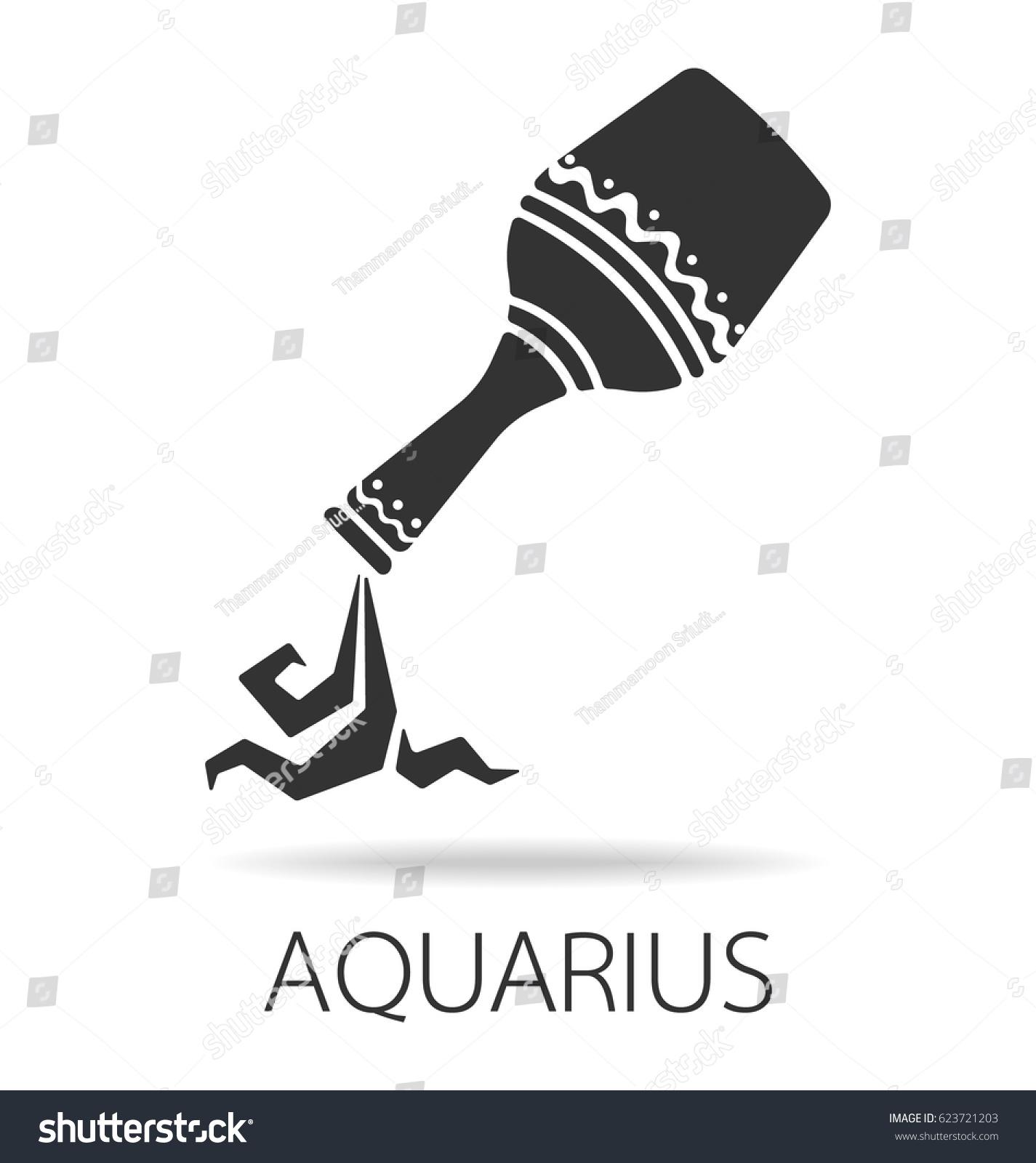 Aquarius Zodiac Star Symbol Vector Illustration Stock Vector