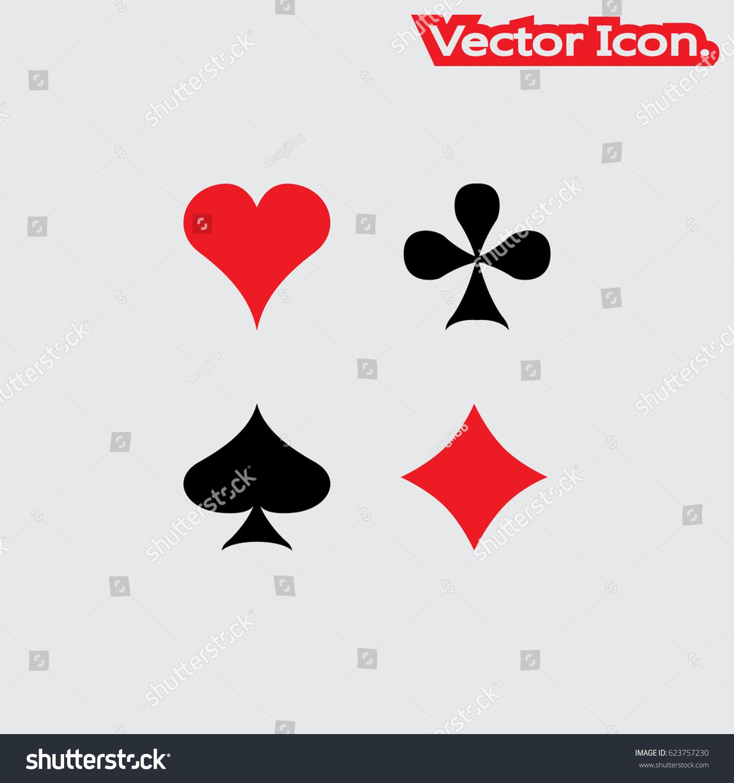 Set poker card symbols heart diamond stock vector 623757230 set of poker card symbols heart diamond club and spade icon isolated sign biocorpaavc