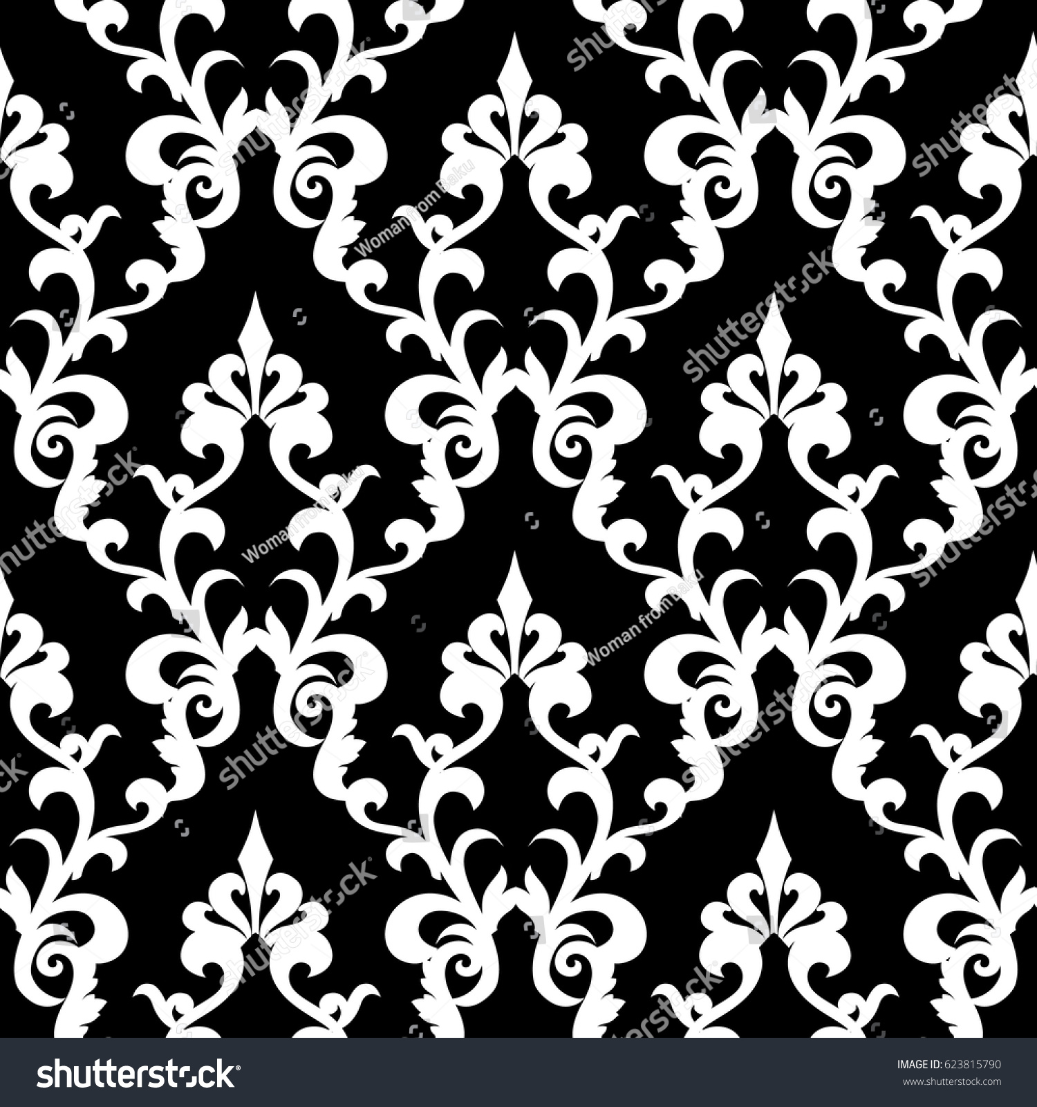 Wallpaper in the style of baroque a seamless vector background wallpaper in the style of baroque a seamless vector background damask floral pattern ez canvas mightylinksfo