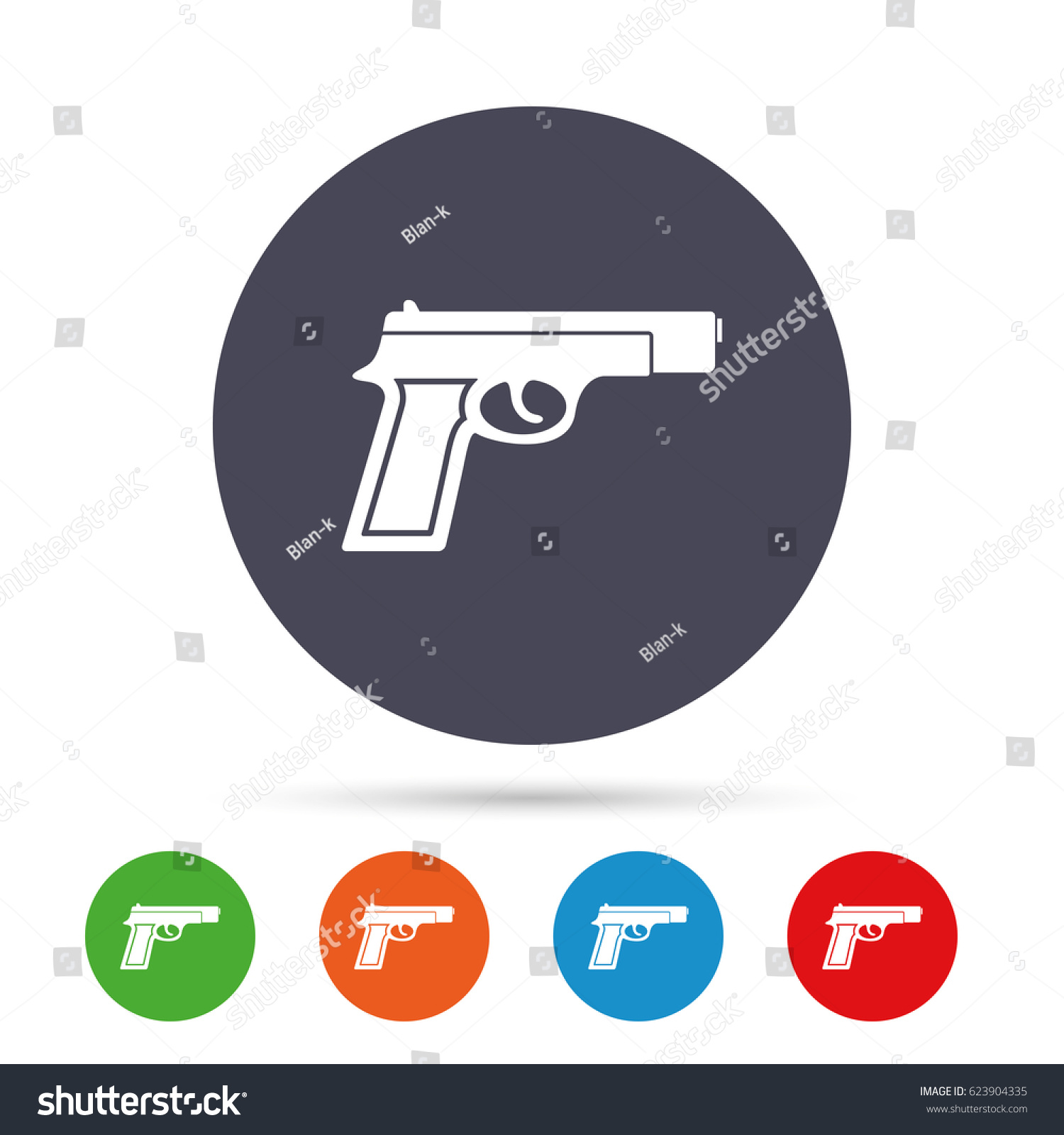 Gun sign icon firearms weapon symbol stock vector 623904335 gun sign icon firearms weapon symbol round colourful buttons with flat icons vector biocorpaavc
