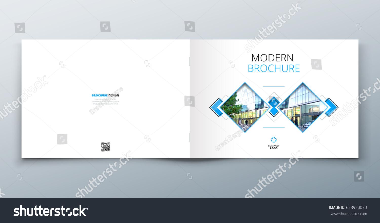 Landscape Brochure Design Corporate Business Template Stock Vector