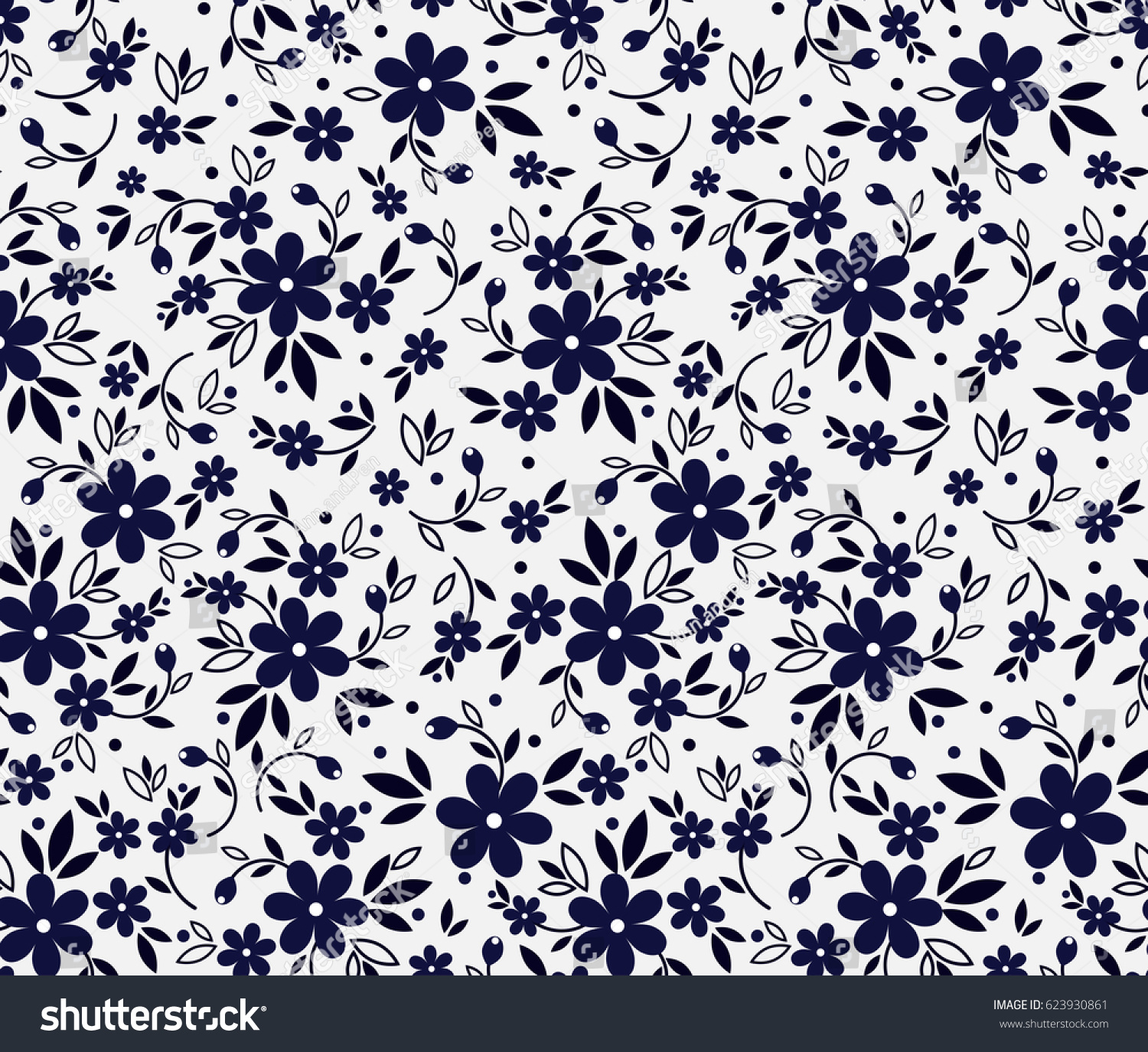 vector seamless pattern cute pattern small stock vector