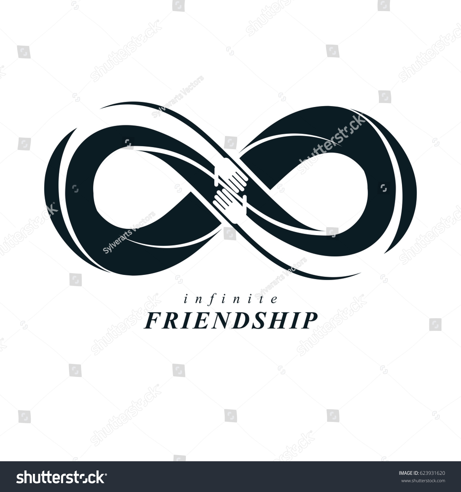 Friends forever everlasting friendship beautiful logo stock friends forever everlasting friendship beautiful logo combined with two symbols of eternity loop and biocorpaavc Images