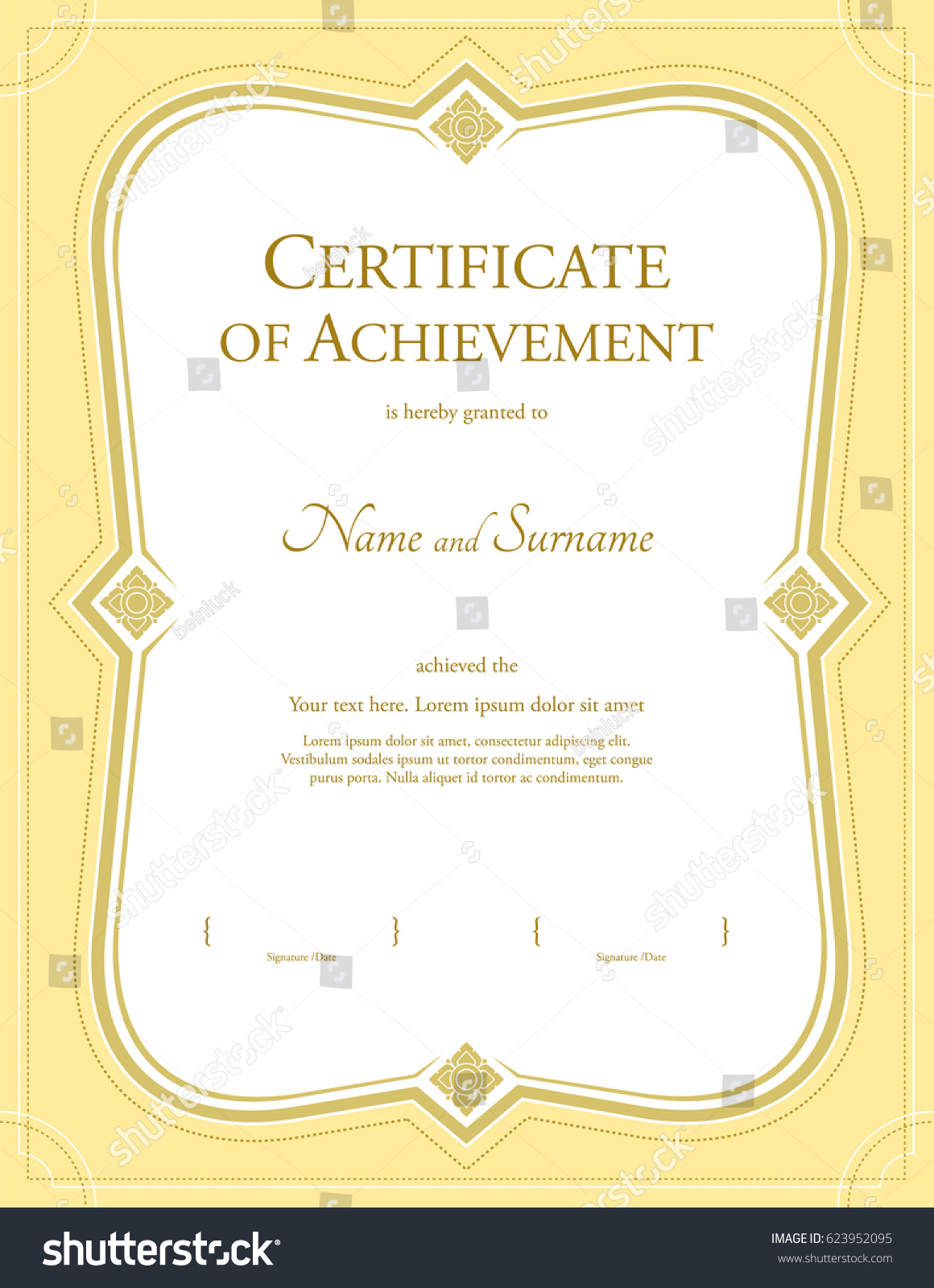 Certificate of achievement template coupon sheet template car dare graduation certificate template choice image certificate stock vector portrait certificate of achievement template in vector yadclub Gallery