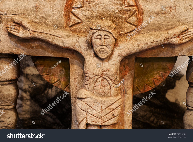 carved antique statue limestone jesus christ stock photo 62396674