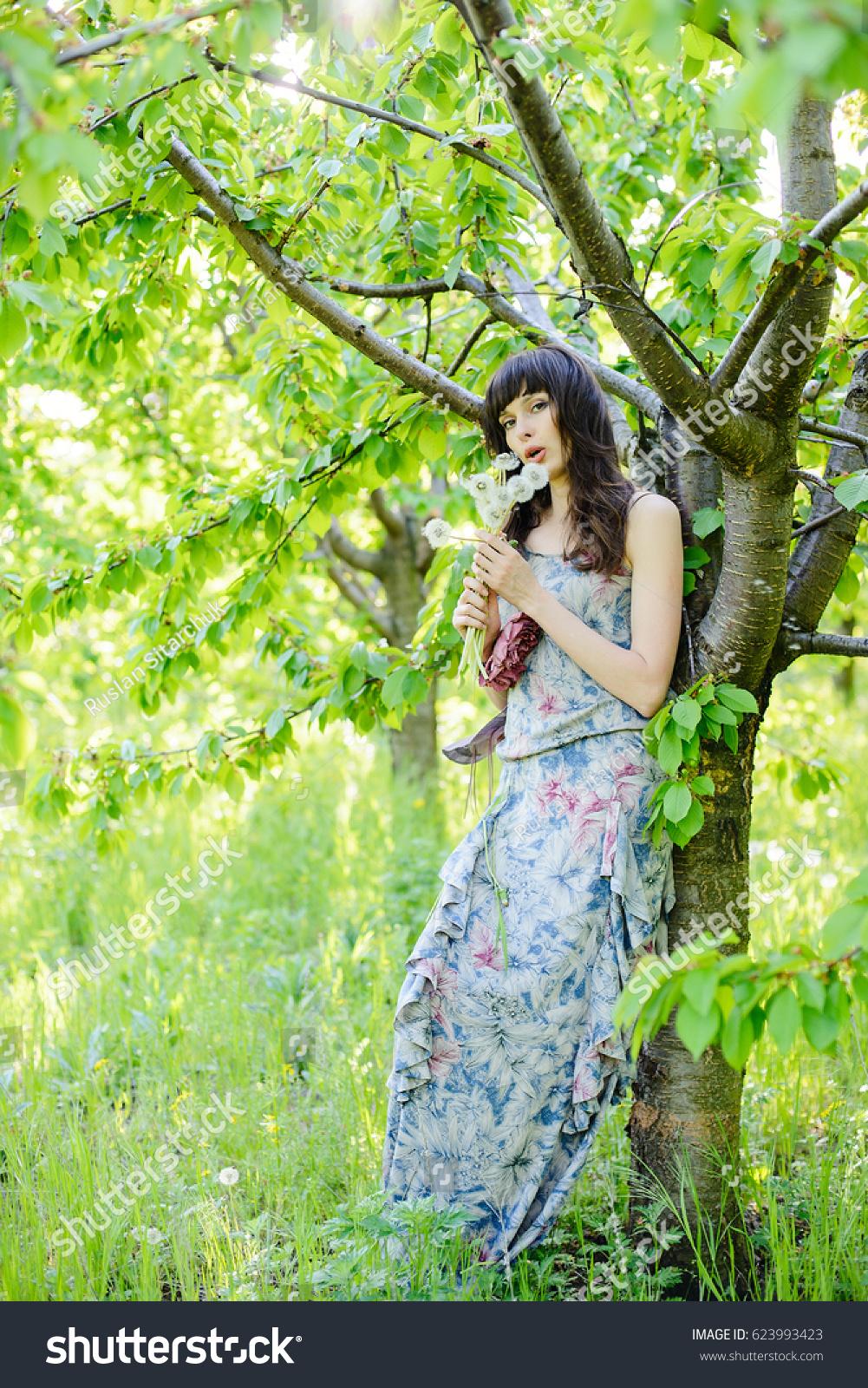 Beautiful Girl Romantic Updo Professional Makeup Stock Photo Edit
