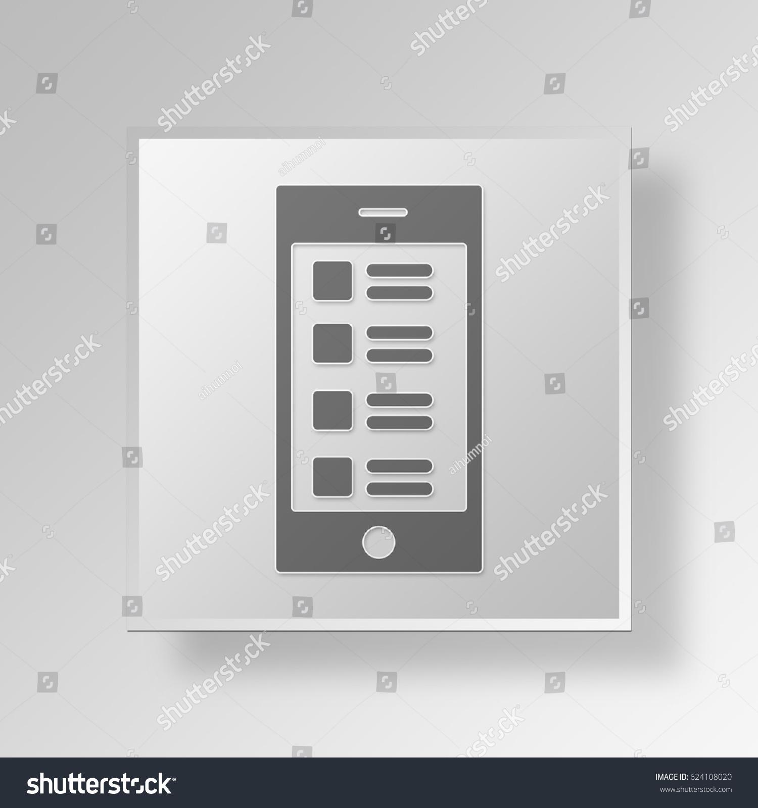3d symbol gray square app store stock illustration 624108020 3d symbol gray square app store icon business concept buycottarizona Images