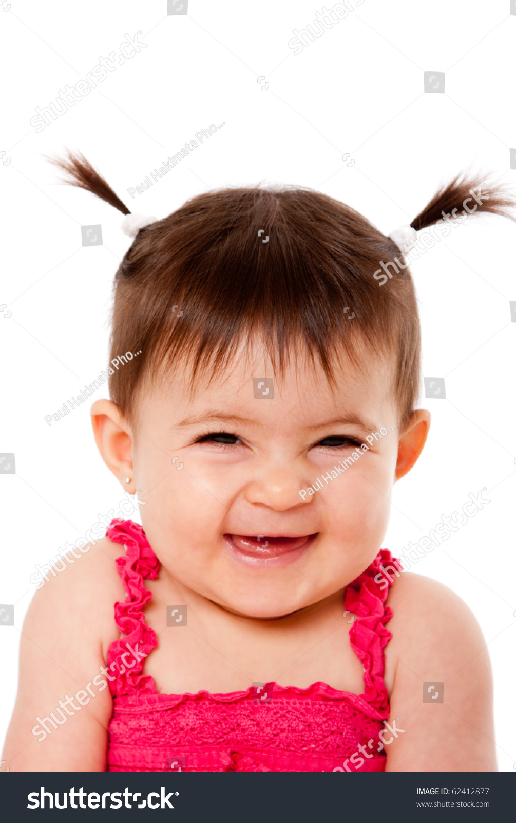Face Cute Happy Smiling Laughing Baby Stock Photo 62412877 ... Cute Happy Baby Girl