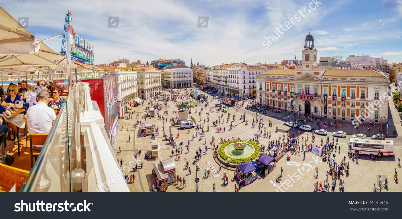 Madrid spain 18 april 2017 puerta stock photo 624145946 - Space madrid ...