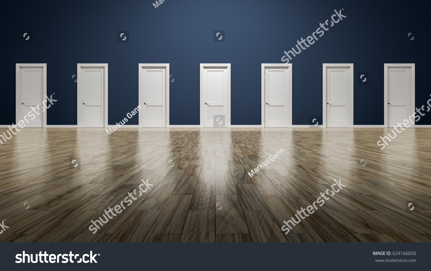 3d rendering of a room with seven doors to choose & 3d Rendering Room Seven Doors Choose Stock Illustration 624166850 ... pezcame.com