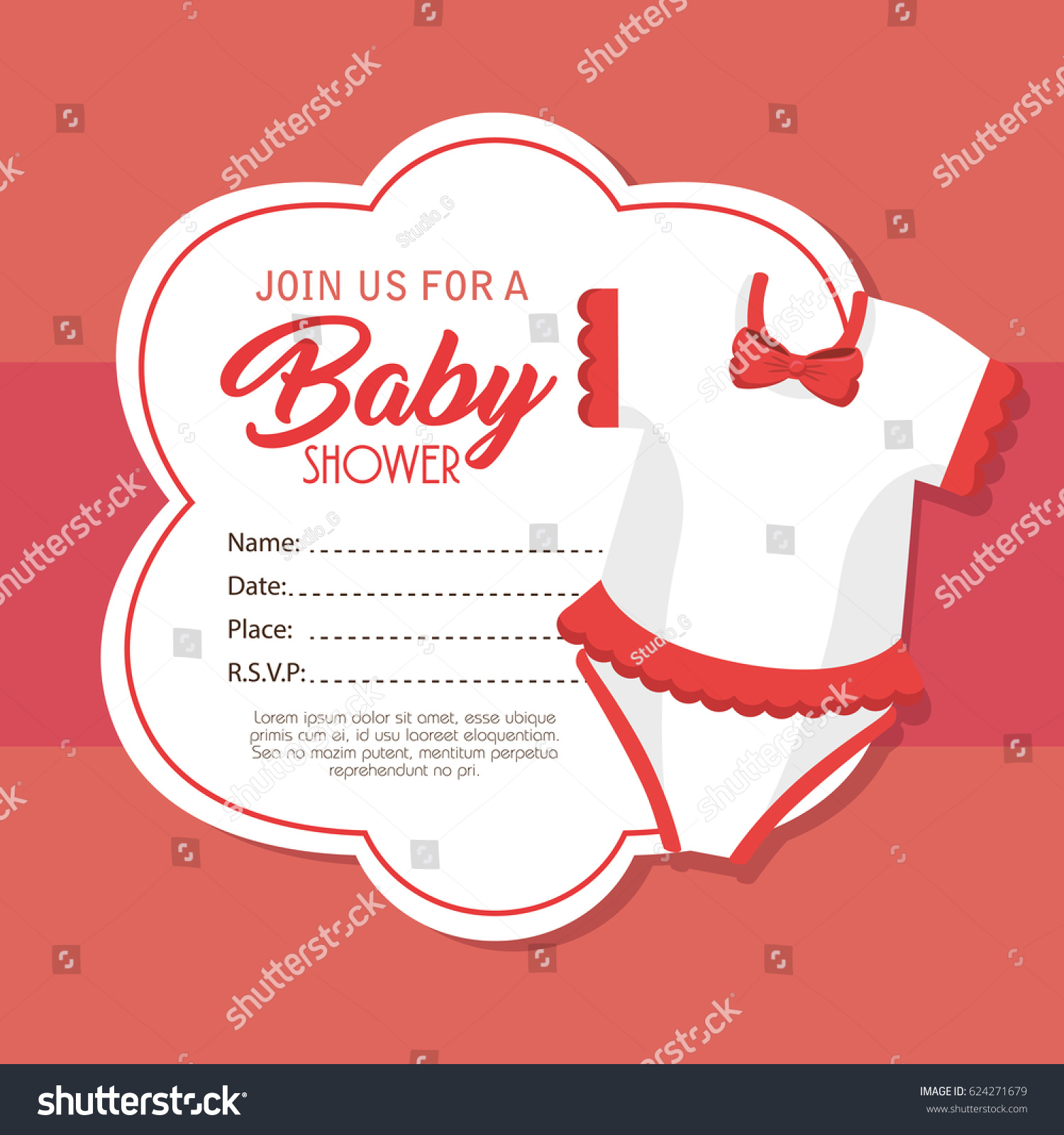 Funky Rabbit Baby Shower Invitations Component - Invitations and ...