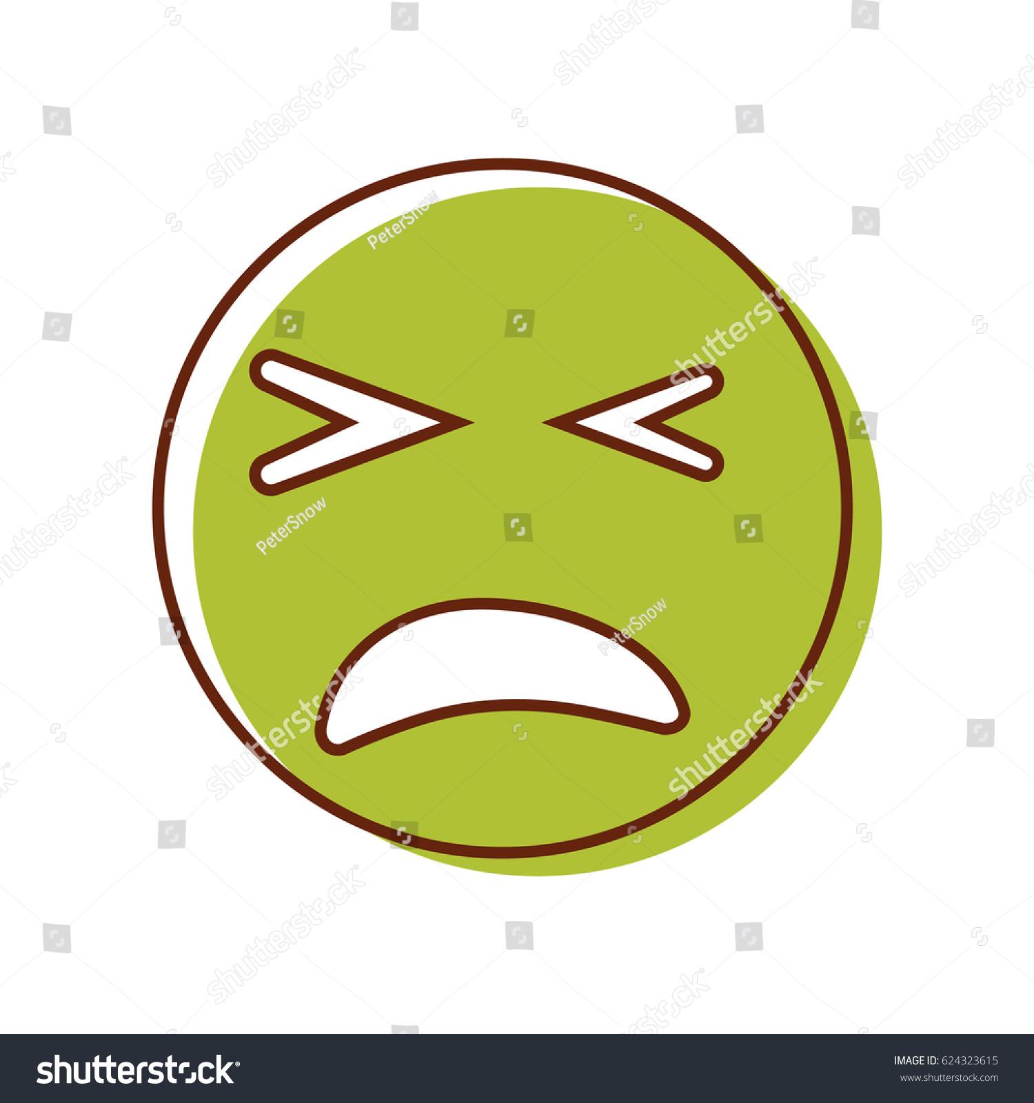 Sick crazy emoticon vector emoji smiley stock vector 624323615 vector emoji smiley biocorpaavc