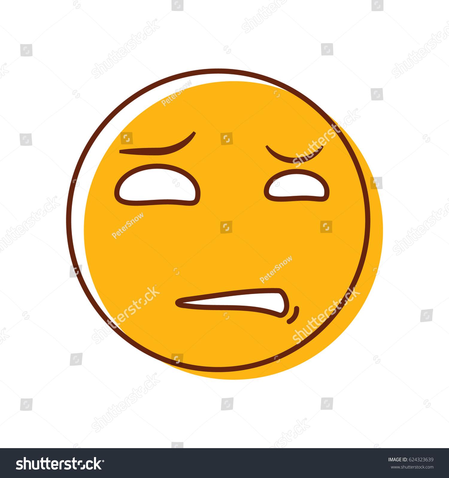 Crazy disgusted emoticon vector emoji smiley