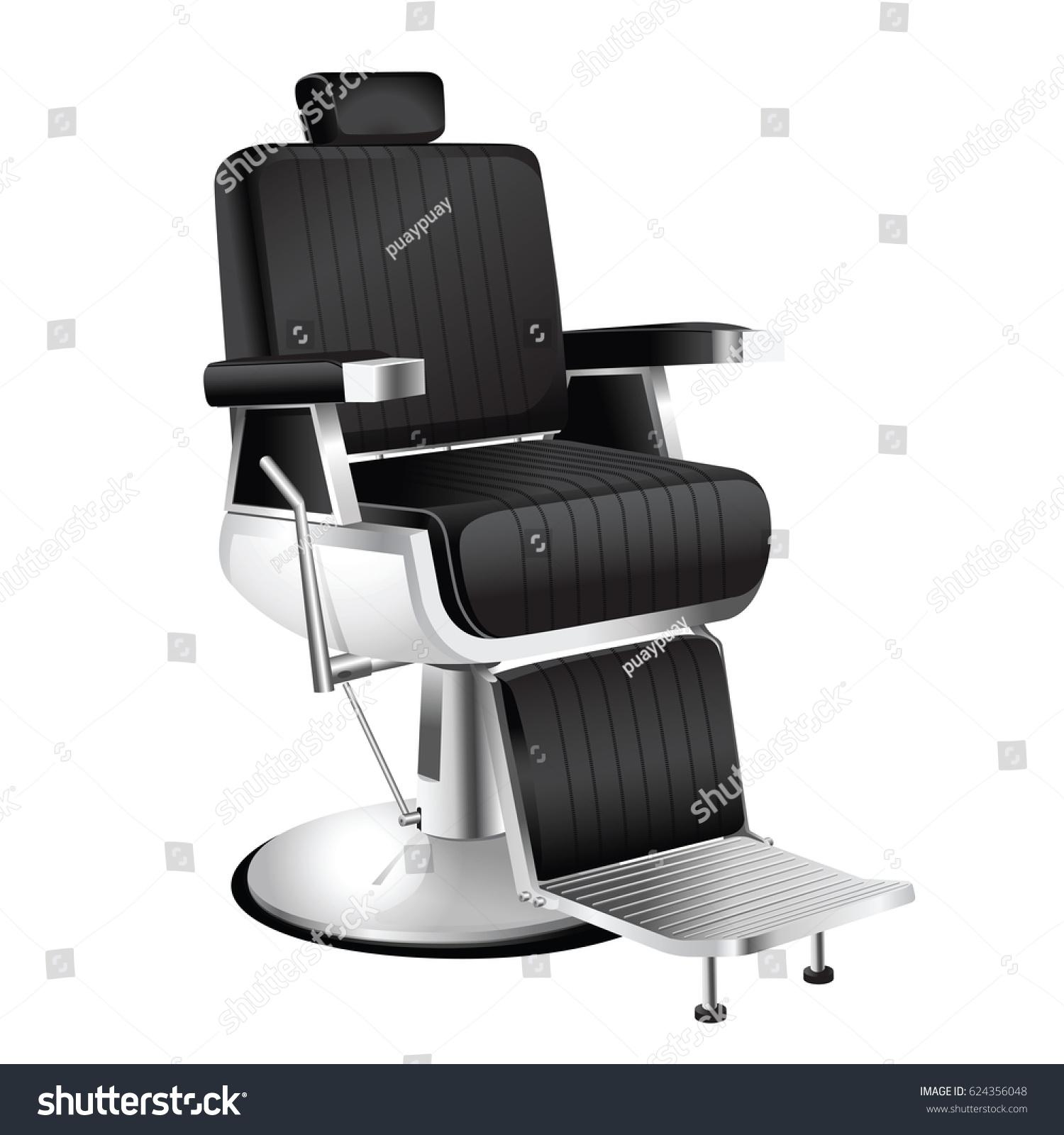 Vector Vintage Barber Chair White Stock Vector