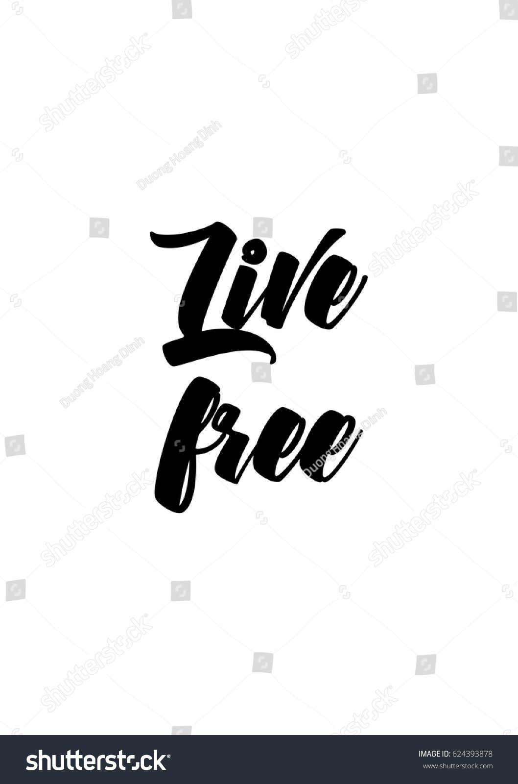 Free Life Quotes Lettering Quotes Motivation About Life Quote Stock Vector
