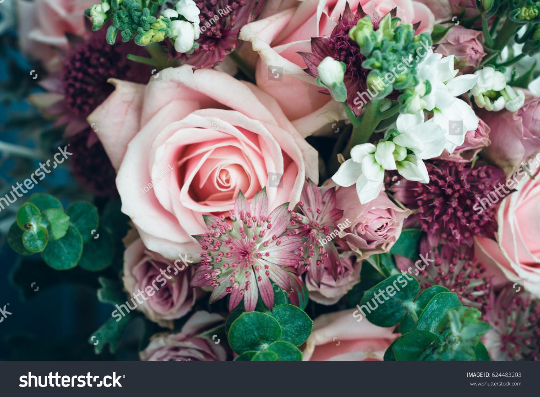 Amazing bohemian pink flowers bouquet boho stock photo edit now amazing bohemian pink flowers bouquet boho chic style flowers for weeding day or baby shower izmirmasajfo