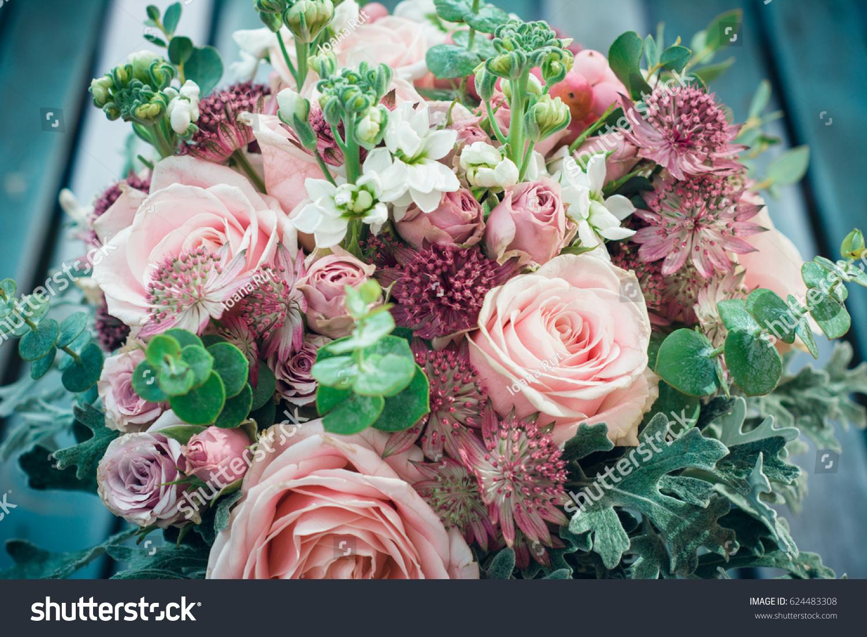 Amazing bohemian pink flowers bouquet boho stock photo royalty free amazing bohemian pink flowers bouquet boho chic style flowers for weeding day or baby shower izmirmasajfo