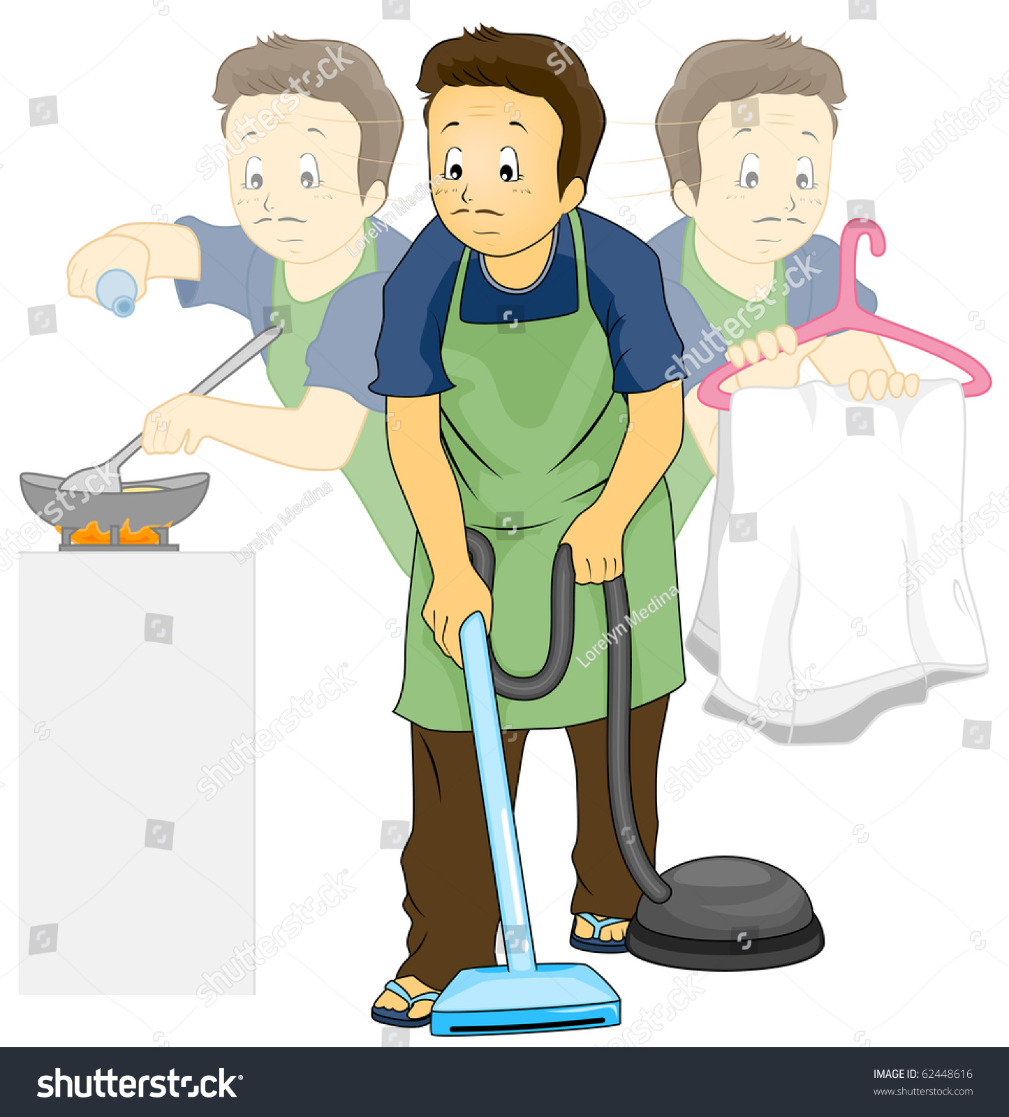 Pictures of doing house chores