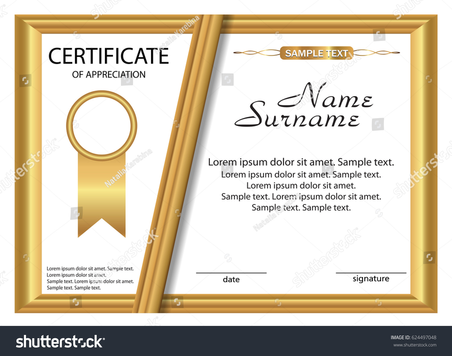 Certificate of appreciation examples manufacturing resume sample sample wording for certificate of appreciation free newsletter stock vector template certificate of appreciation gold design yadclub Choice Image