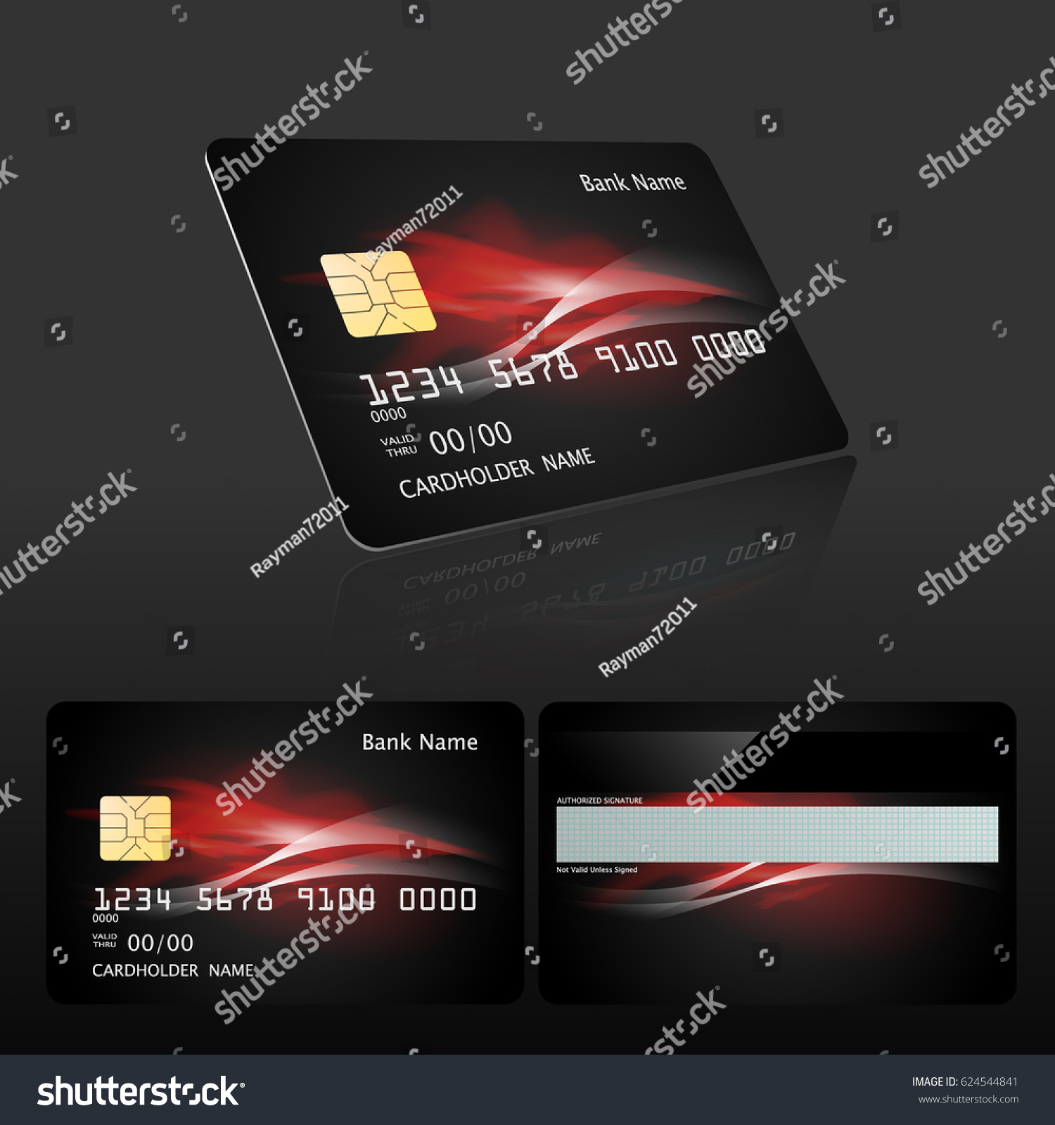 credit card design template element