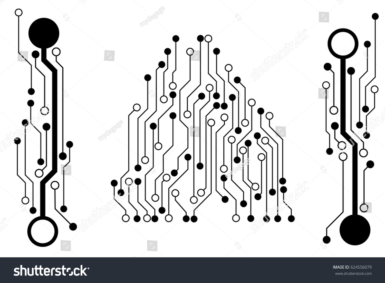 Vector Circuit Board Pattern Background Technology Stock Vector ...