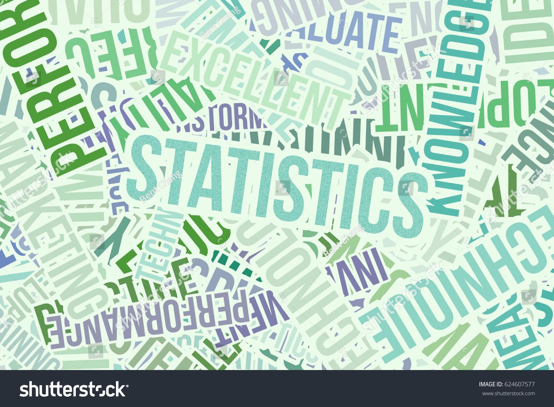 Statistics Business Word Cloud Design Wallpaper 624607577