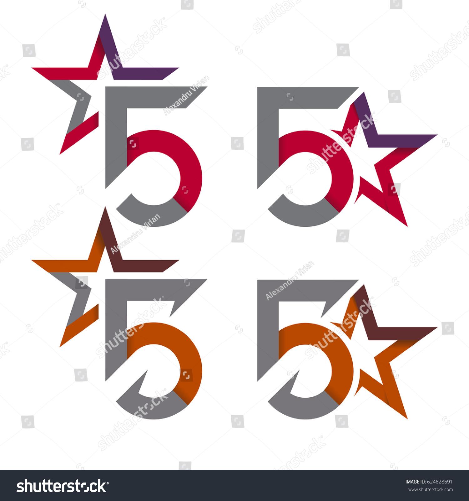 5 Star Symbols Stock Vector Royalty Free 624628691 Shutterstock