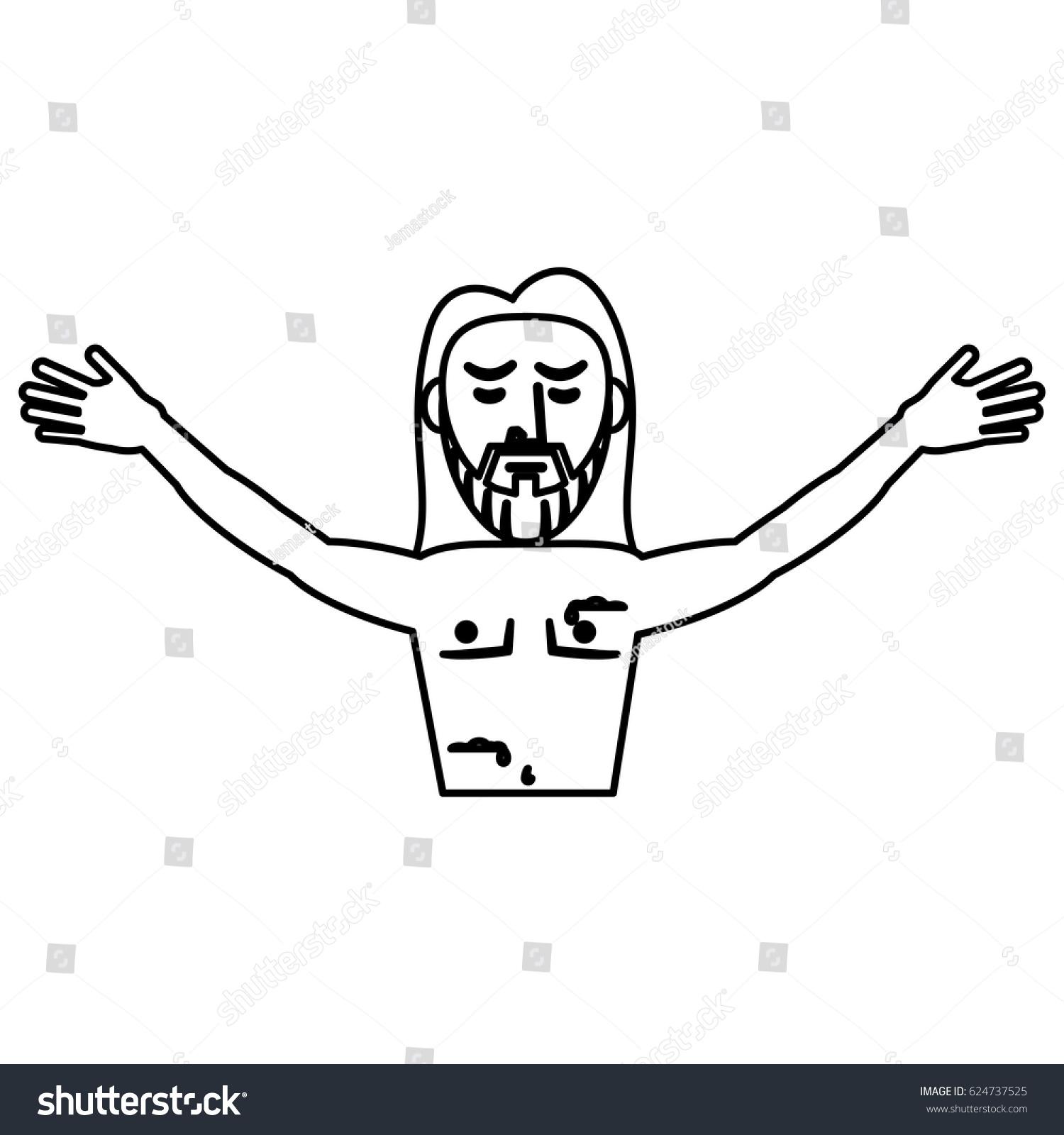 Jesus christ resurrection symbol outline stock vector 624737525 jesus christ resurrection symbol outline buycottarizona Image collections