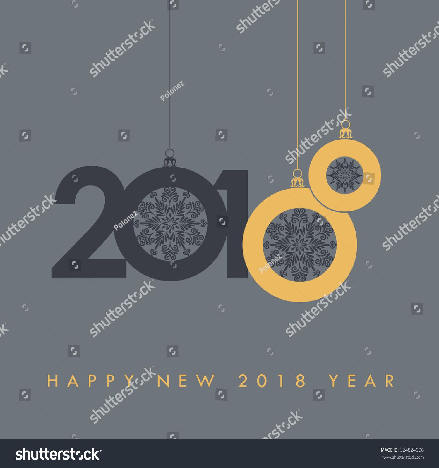 Happy New 2018 Year Holidays Seasons Stock Vector Royalty Free