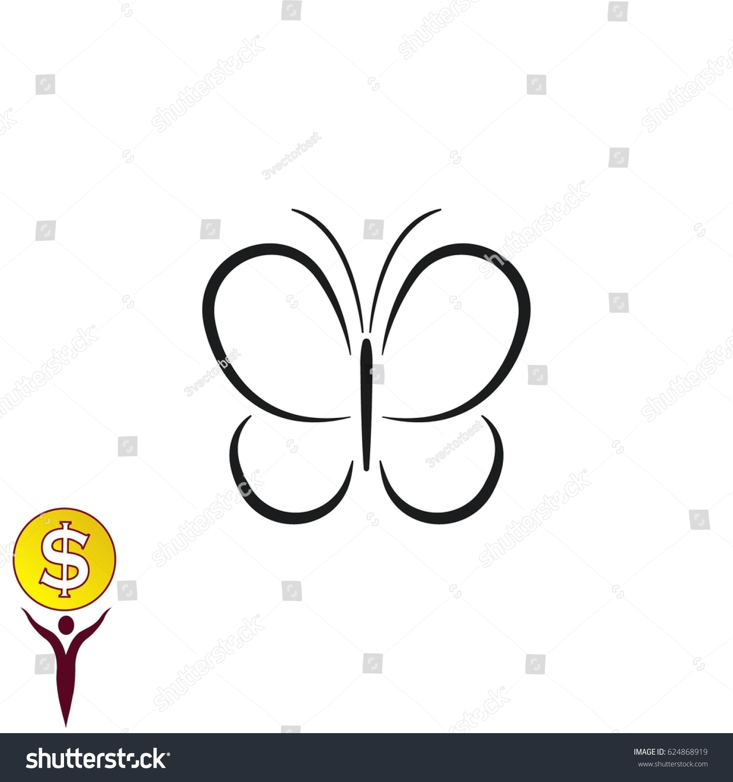 Butterfly icon vector illustration stock vector 624868919 butterfly icon vector illustration biocorpaavc Image collections