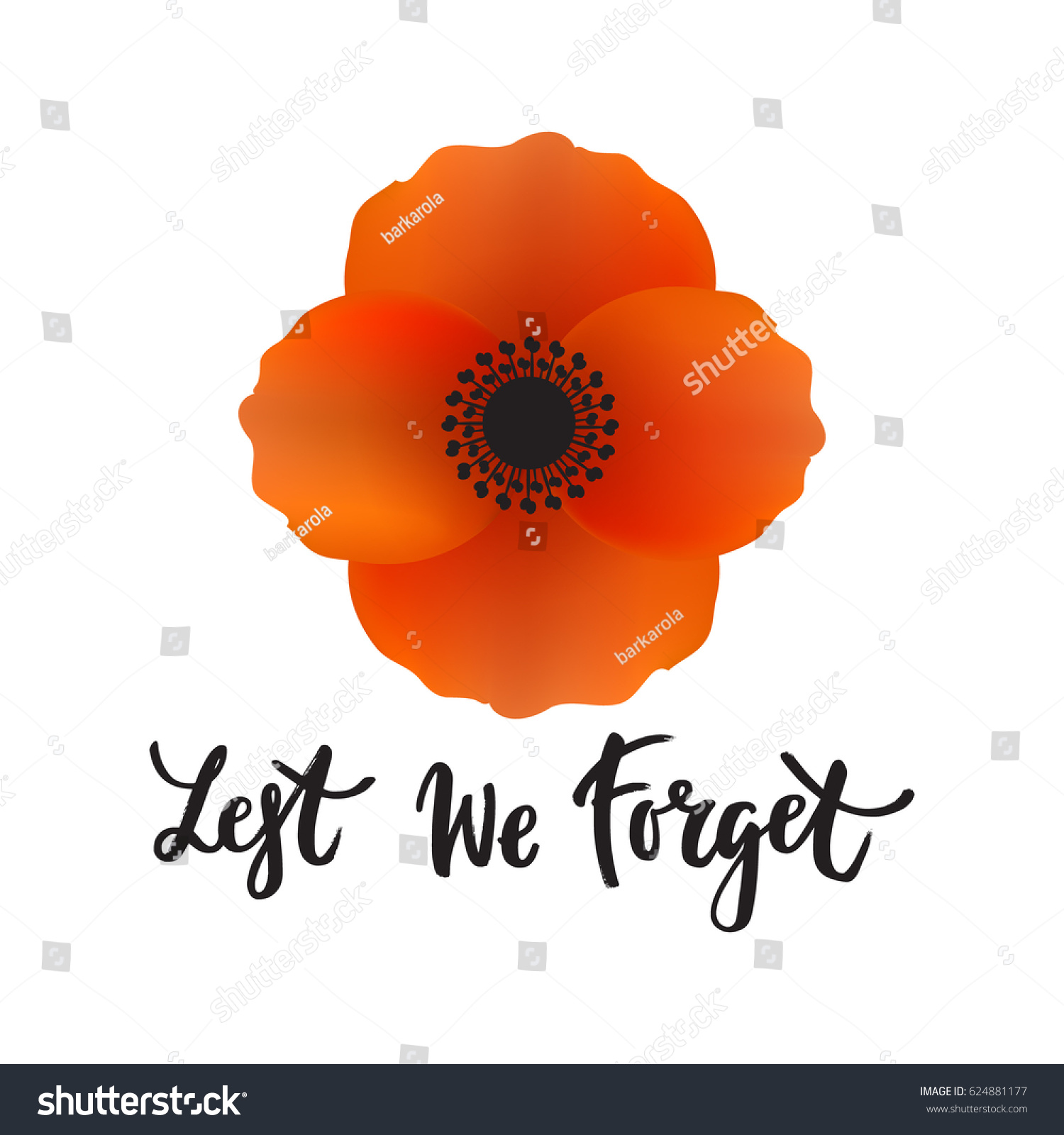 Vector illustration bright poppy flower remembrance stock vector vector illustration of a bright poppy flower remembrance day symbol anzac day lest buycottarizona