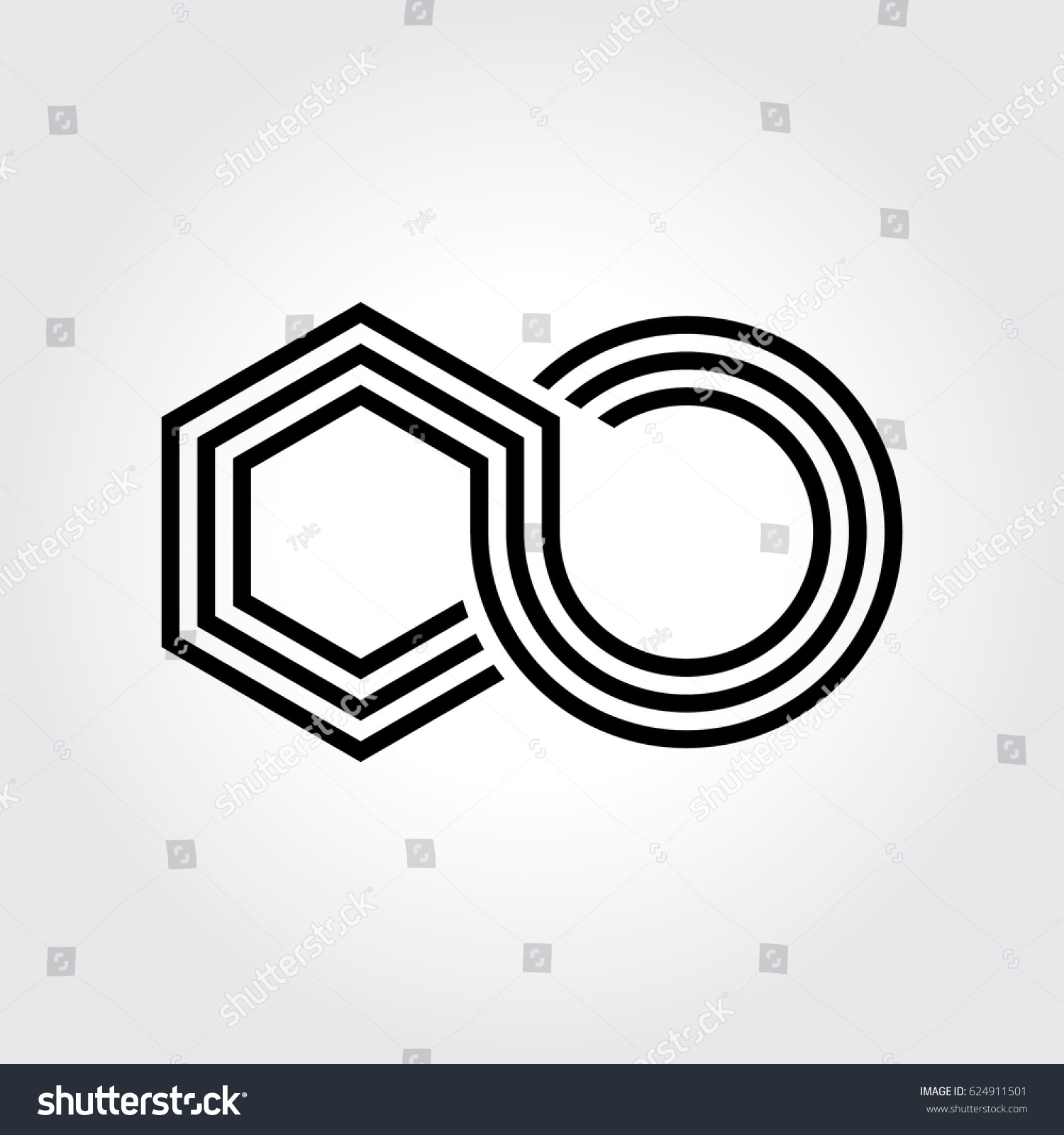 Abstract logo icon element infinity sign stock vector 624911501 abstract logo icon element of infinity sign create by box or cube shape biocorpaavc Choice Image