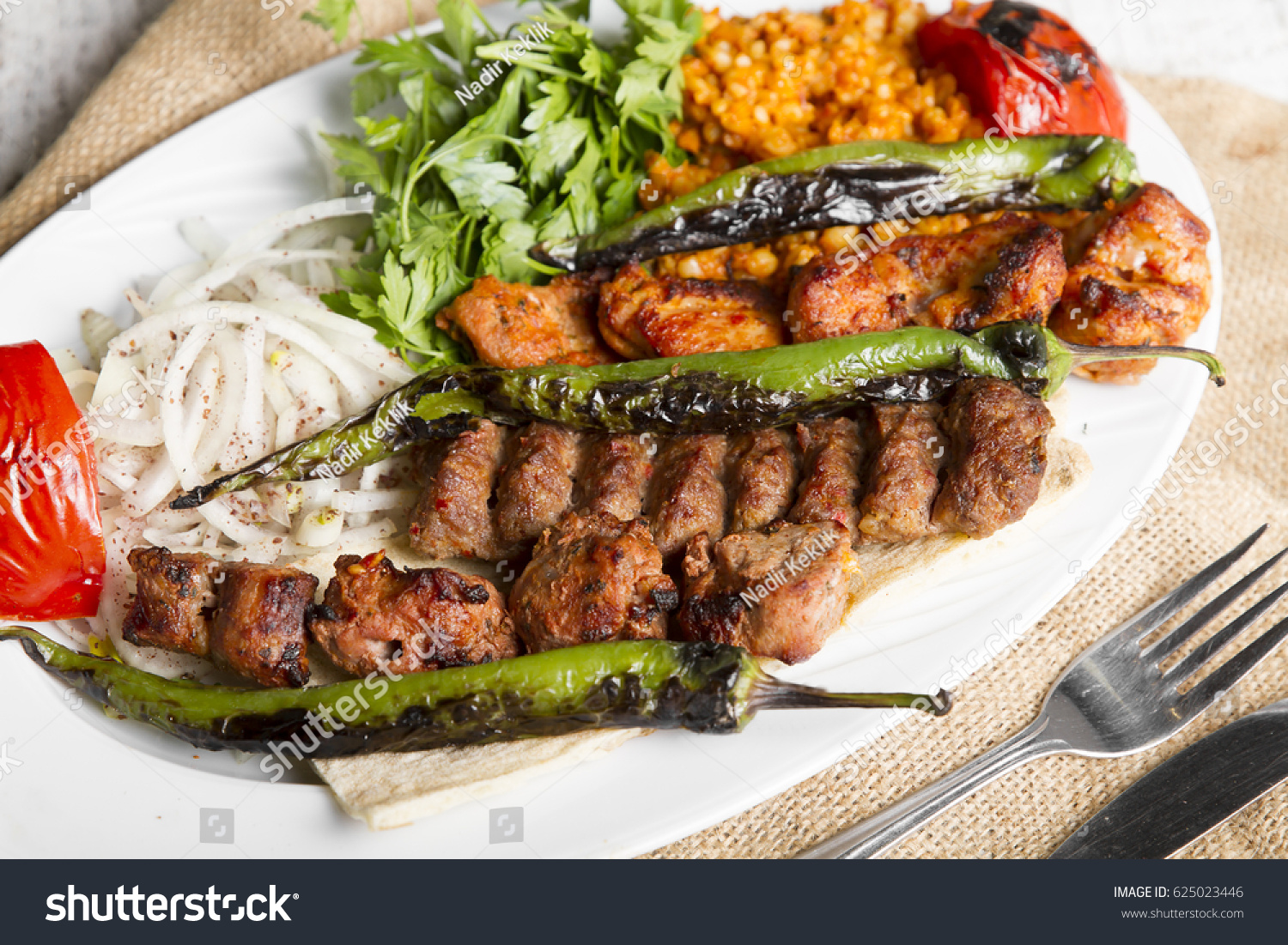 Turkish Arabic Traditional Ramadan Mix Kebab Stock Photo Edit Now 625023446